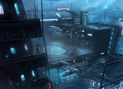 futuristic, buildings, fantasy art, science fiction, cities - random desktop wallpaper