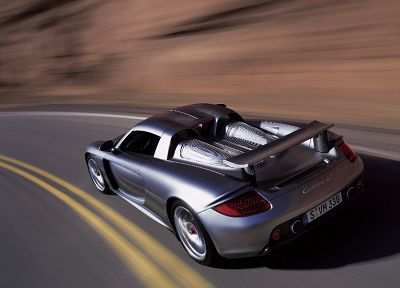 cars, vehicles, Porsche Carrera GT, rear angle view - random desktop wallpaper