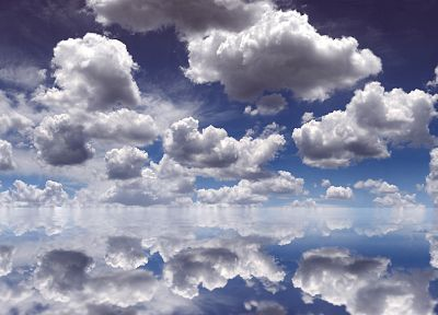 water, clouds, mirrors, skyscapes - desktop wallpaper