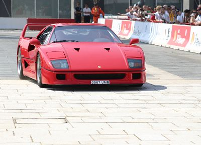cars, Ferrari, vehicles, supercars, red cars, Ferrari F40, italian cars, front angle view - related desktop wallpaper