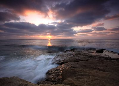 landscapes, rocks, skies, sea - related desktop wallpaper