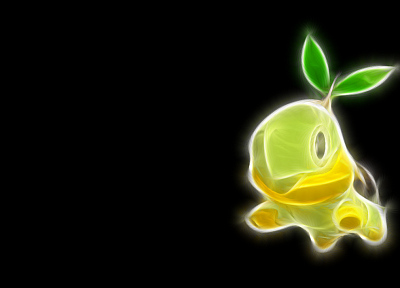 Pokemon, simple background, black background, Turtwig - desktop wallpaper