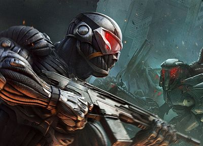 video games, weapons, bodysuits, Crysis 2, nanosuit - newest desktop wallpaper