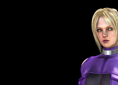 video games, Tekken, CGI, Nina Williams, simple background, black background - desktop wallpaper