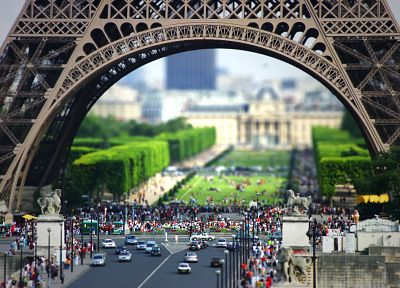Paris, tilt-shift - related desktop wallpaper