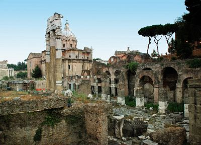 landscapes, ruins, architecture, Rome, Italy, roman forum - random desktop wallpaper