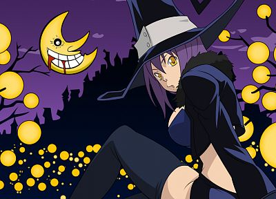 Soul Eater, Blair, witches - desktop wallpaper