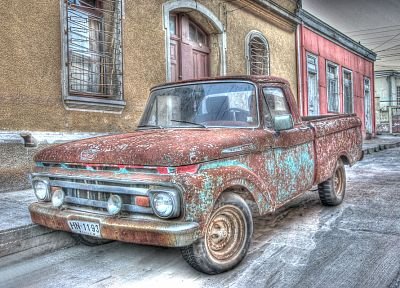 old, cars, vehicles, HDR photography - desktop wallpaper