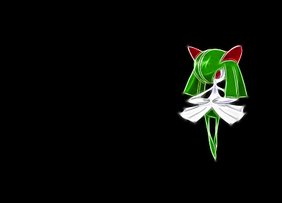 Pokemon, simple background, Kirlia - random desktop wallpaper