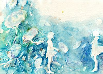 paintings, artwork, watercolor - random desktop wallpaper