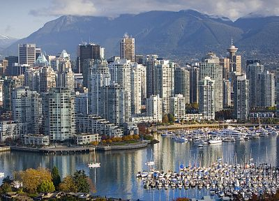 Canada, Vancouver, British Columbia, marina - related desktop wallpaper