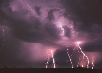 clouds, storm, weather, lightning - random desktop wallpaper
