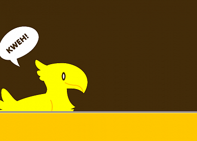 Final Fantasy, Chocobo, simplistic - random desktop wallpaper