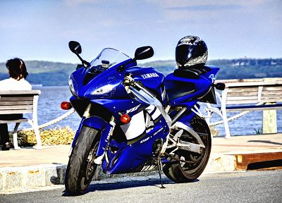 vehicles, motorbikes, yamaha R1 - random desktop wallpaper