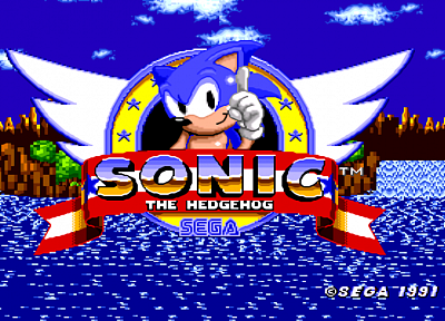 Sonic the Hedgehog, video games, Sega Entertainment, screenshots, hedgehogs, retro games - desktop wallpaper