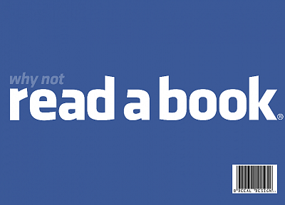 Facebook, wall, reading, books - desktop wallpaper