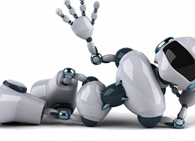 robot, funny, hello - random desktop wallpaper