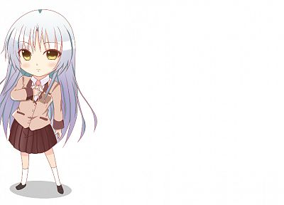 Angel Beats!, chibi, Tachibana Kanade, simple background - random desktop wallpaper