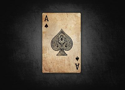 black, playing cards, ace of spades - random desktop wallpaper