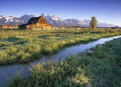 mountains, landscapes, Wyoming, tetons - random desktop wallpaper