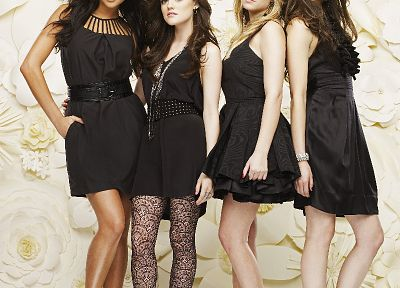 brunettes, blondes, women, Lucy Hale, Pretty Little Liars, Shay Mitchell, Ashley Benson, Troian Bellisario - related desktop wallpaper