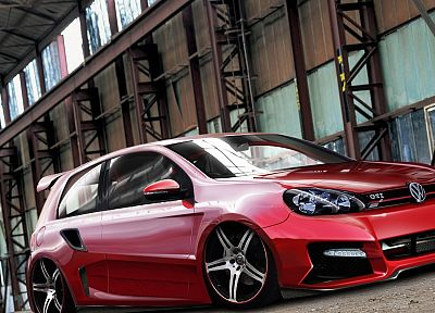 cars, GTI, Volkswagen, Volkswagen Golf GTI, German cars, Volkswagen Golf VI - related desktop wallpaper
