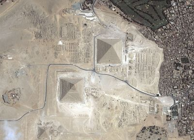 Egypt, archeology, pyramids, aerial photography, Great Pyramid of Giza - random desktop wallpaper