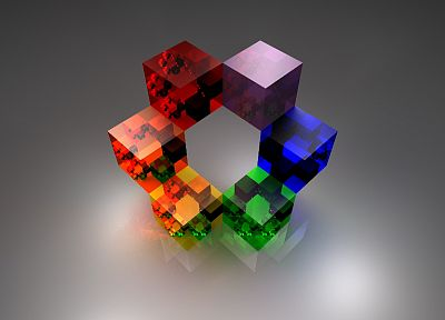 abstract, multicolor, cubes - related desktop wallpaper