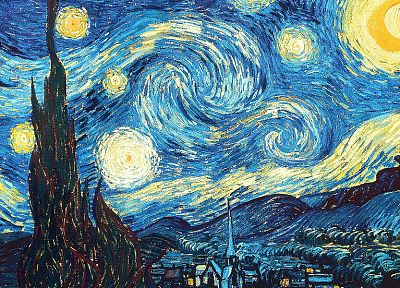 Vincent Van Gogh, Starry Night - desktop wallpaper