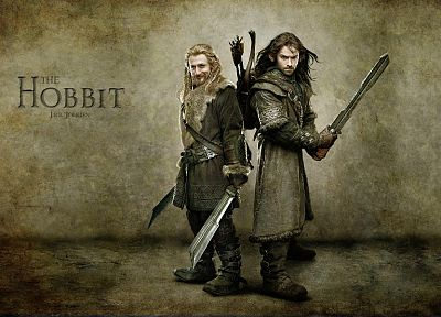 movies, dwarfs, journey, The Hobbit, arrows, swordsman, bow (weapon), brothers, Kili, Fili - related desktop wallpaper