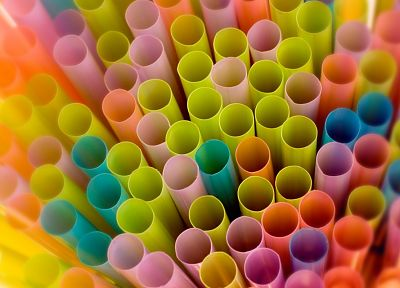 multicolor, straws - desktop wallpaper