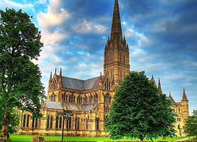 architecture, cathedrals, HDR photography, Salisbury Cathedral - related desktop wallpaper