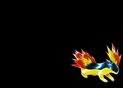 Pokemon, Quilava, black background - random desktop wallpaper