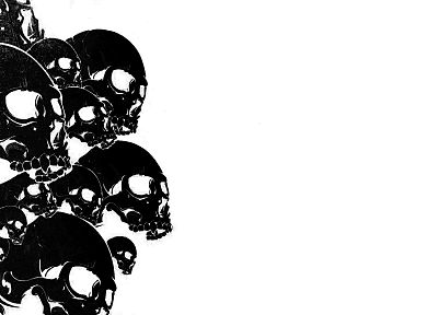 skulls, black, white, bones - related desktop wallpaper