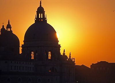 sunset, architecture, Venice, Italy, salute - desktop wallpaper