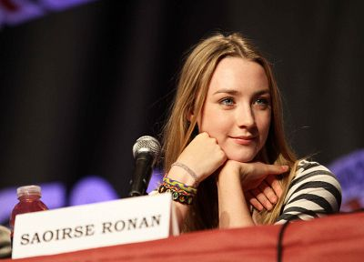 women, actress, Saoirse Ronan, microphones - related desktop wallpaper