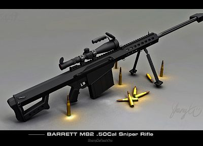 guns, weapons, sniper rifles, M82A1 - random desktop wallpaper