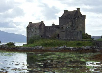 water, nature, castles, Scotland, lakes - random desktop wallpaper