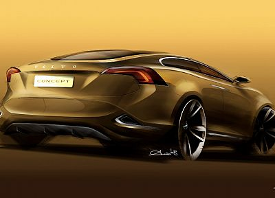 concept art, vehicles, supercars, Volvo S60 - desktop wallpaper
