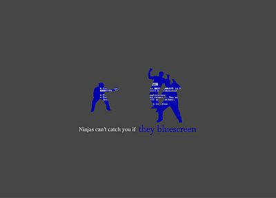 ninjas cant catch you if, Blue Screen of Death - related desktop wallpaper