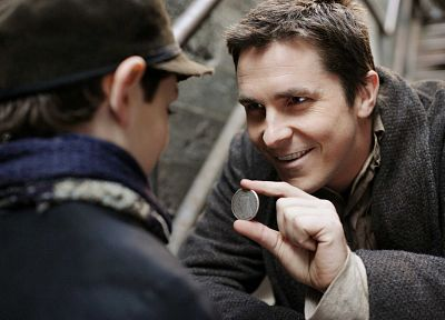 coins, men, Christian Bale, screenshots, actors, The Prestige - desktop wallpaper