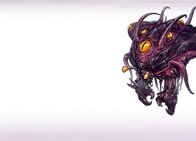 video games, Zerg, artwork, StarCraft II, Overseer - related desktop wallpaper
