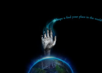 text, hands, Earth - random desktop wallpaper