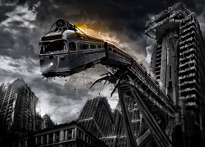 trains, Romantically Apocalyptic, Vitaly S Alexius - desktop wallpaper