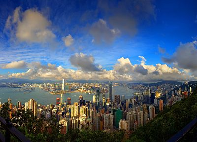 clouds, cityscapes, buildings, downtown, panorama, cities - related desktop wallpaper