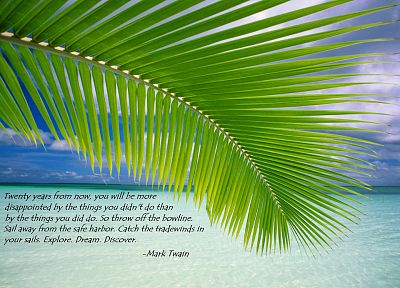 quotes, Mark Twain, beaches - desktop wallpaper