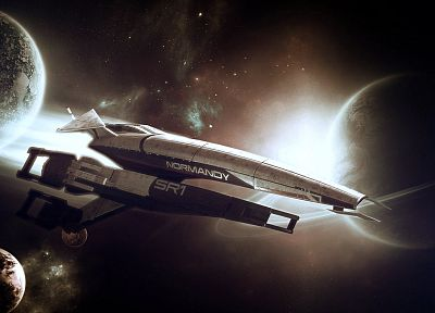 science, outer space, fiction, Normandy, Mass Effect, games - random desktop wallpaper