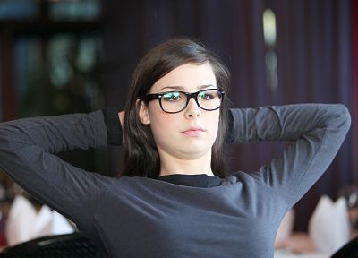 glasses, Lena Meyer-Landrut, girls with glasses - desktop wallpaper