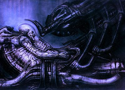 blue, outer space, spaceships, vehicles, Aliens movie, Alien, Space Jockey - desktop wallpaper