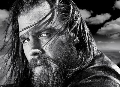 Sons Of Anarchy, monochrome, TV series, Ryan Hurst - random desktop wallpaper